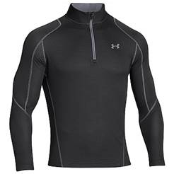 Under Armour Cold Gear Infrared Grid 1/2 Zip - Black/Grey 1248937-001