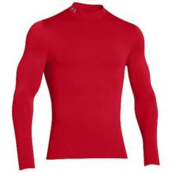 Under Armour EVO ColdGear Compression Mock - Red 1249978-600